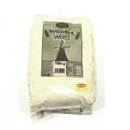 Maida - Maismehl weiss - Weisses Maismehl aus Vollkorn aus Serbien, in 1kg Packung.
