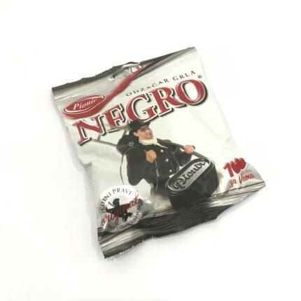 Pionir Negro - Bonbons mit Lakritz Geschmack aus Pflanzenextrakt, kombiniert mit Minze, aus Serbien, in 100g Packung.