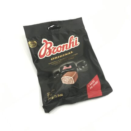 Bronhi Original - Karamel Lakritz Bonbon mit Kräuter aus Kroatien in 100g Packung.