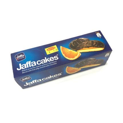 Jaffa Cakes Orange - Biscuit mit Fruchtgelee und Schokoladenüberzug, aus Serbien, in 150g Packung.