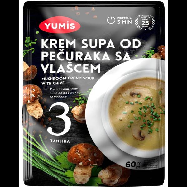 Yumis – Krem Supa Od Pecuraka Sa Vlascem – Pilz Creme Suppe mit Schnittlauch – 60g
