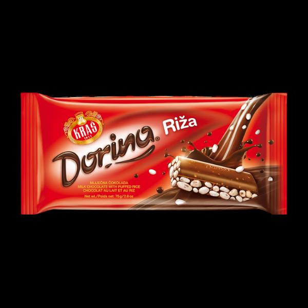 Dorina – Schokolade mit Puffreis – 75g
