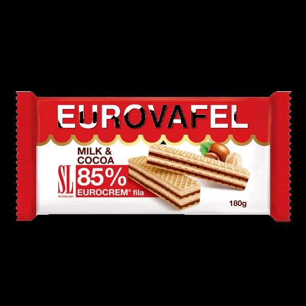 Eurocrem – Eurowaffeln mit Kakao und Milchcreme füllung – 180g