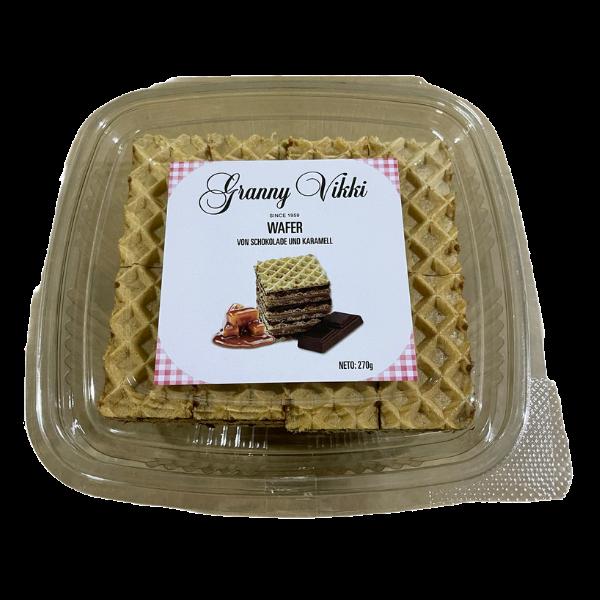 Granny Vikki – Oblatne  – Waffeln gefüllt mit Schokolade und Karamell – 270g