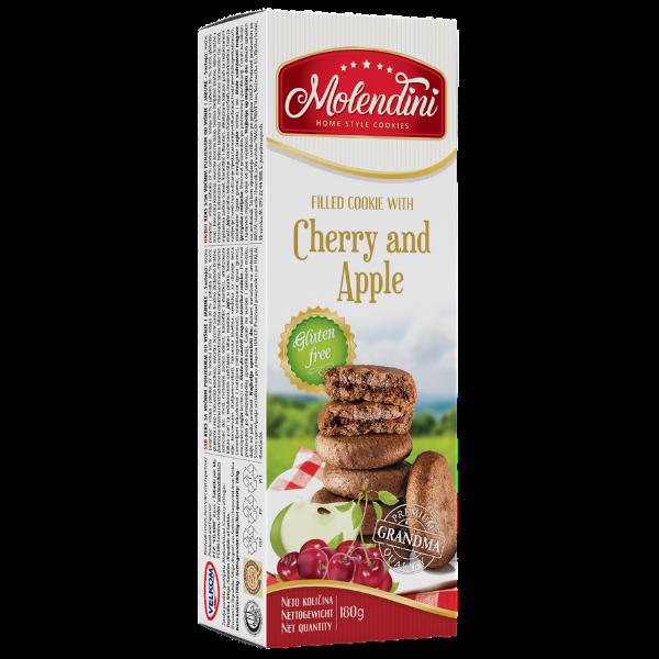 Molendini – Weiche Kekse mit Kirsche & Apfel Füllung Glutenfrei – 180g