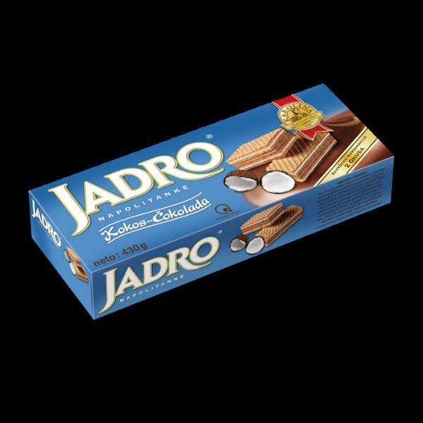 Jadro – Napolitanke Kokos-Cokolada – 430g