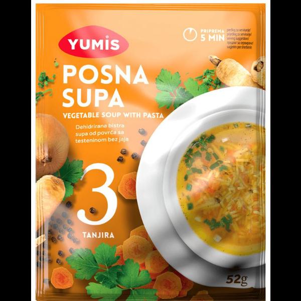 Yumis – Posna Supa – Gemüse Suppe mit Teigwaren – 52g