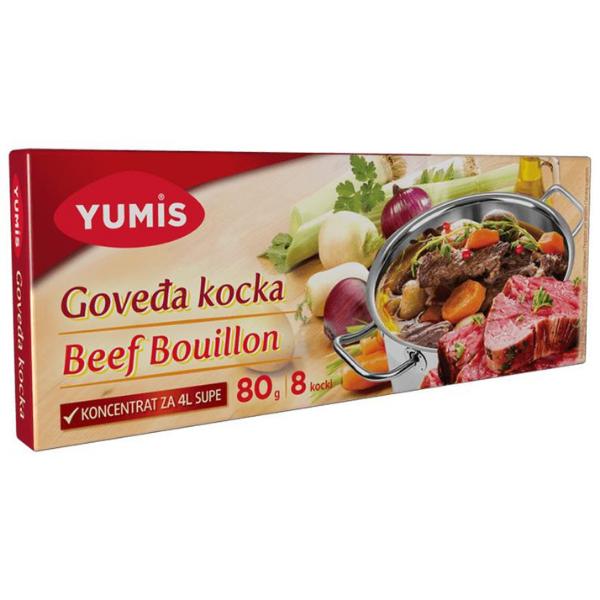Yumis – Goveda kocka – Rinds Bouillon Würfel – 8x10g