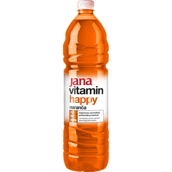 Jana Vitamin Happy – Vitaminwasser Orange – 1,5L