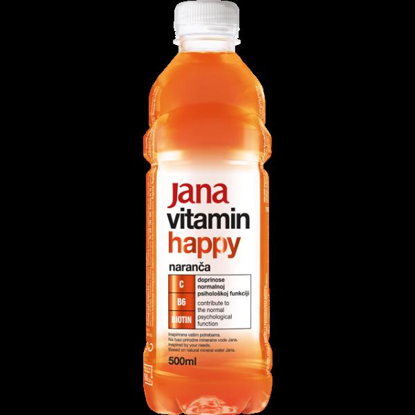 Jana Vitamin Happy – Vitaminwasser Orange – 500ml