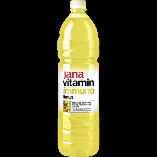 Jana Vitamin Immuno – Vitaminwasser Zitrone – 1,5L