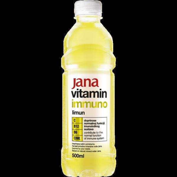 Jana Vitamin Immuno – Vitaminwasser Zitrone – 500ml