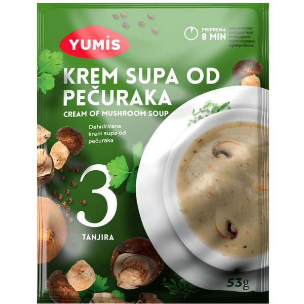 Yumis – Krem Supa Od Pecuraka – Pilz Creme Suppe – 53g