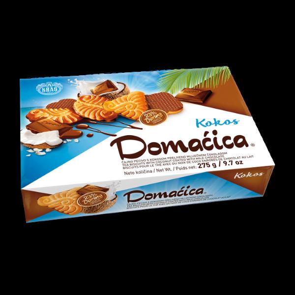 Kras – Teegebäck mit Schokoladenüberzug Domacica Kokos – 275g