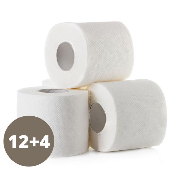 Deluxe – WC-Papier – 12+4 Rollen Gratis