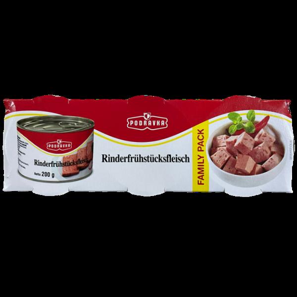 Podravka – Rinder Frühstücksfleisch – Family Pack – 3x200g