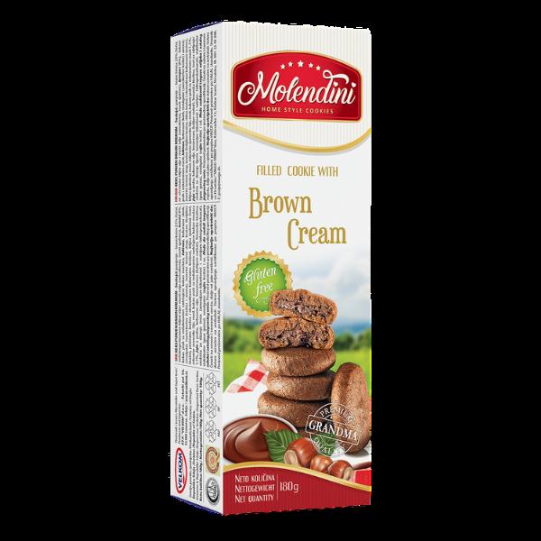Molendini – Weiche Kekse mit brauner Cremefüllung Glutenfrei – 180g