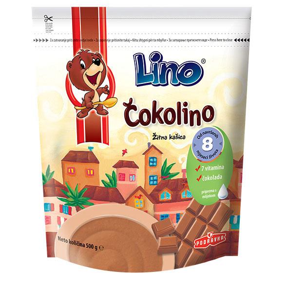 Podravka – Lino Cokolino – Getreidebrei mit Schokolade + Vitaminen – 500g