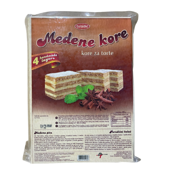 Bradic – Tortenboden – Medene kore – 450g