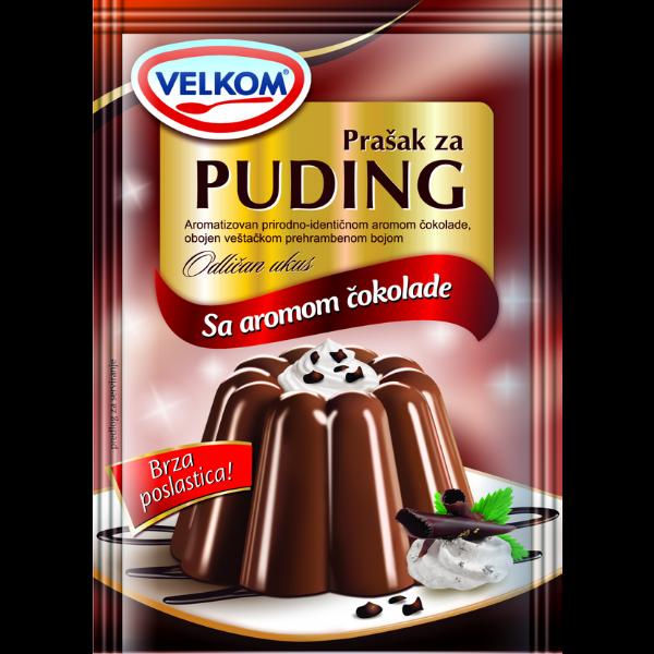 Velkom – Puddingpulver Schokolade – 45g