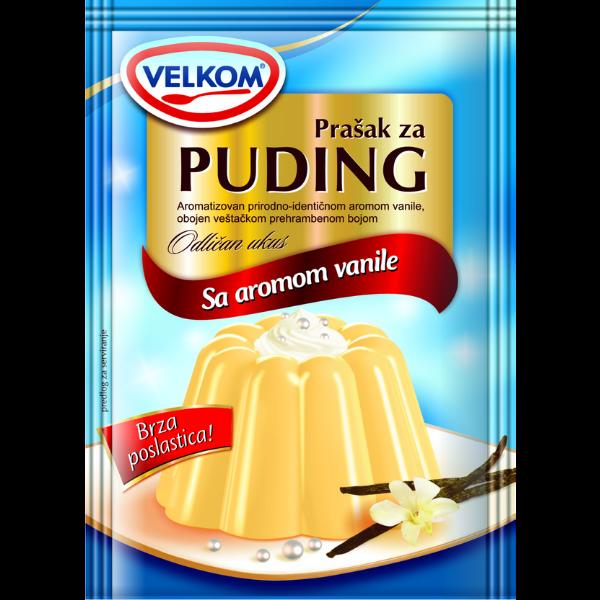 Velkom – Puddingpulver Vanille – 45g