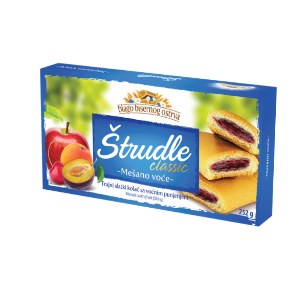 Strudlice classic – Strudel mit Fruchtmix Füllung – 252g