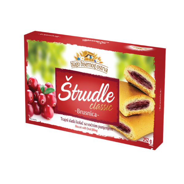 Strudlice classic – Strudel mit Cranberry Füllung – 252g