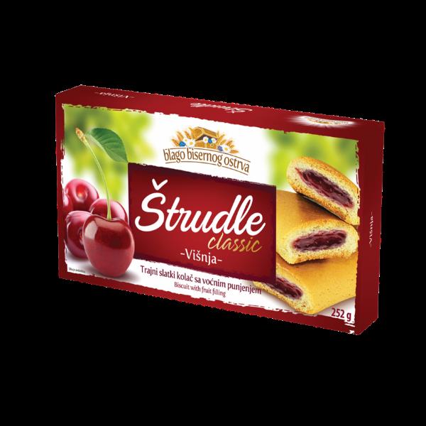 Strudlice classic – Strudel mit Kirschen Füllung – 252g