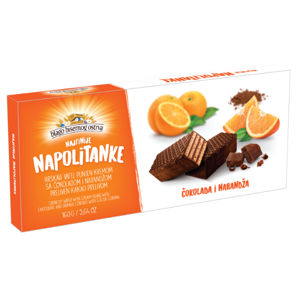 Sticks Napolitanke – Orange – 160g