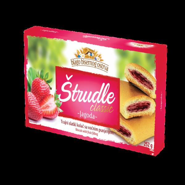 Strudlice classic – Strudel mit Erdbeer Füllung – 252g
