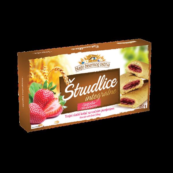 Strudlice integrale – Vollkorn-Strudel mit Erdbeer Füllung – 252g