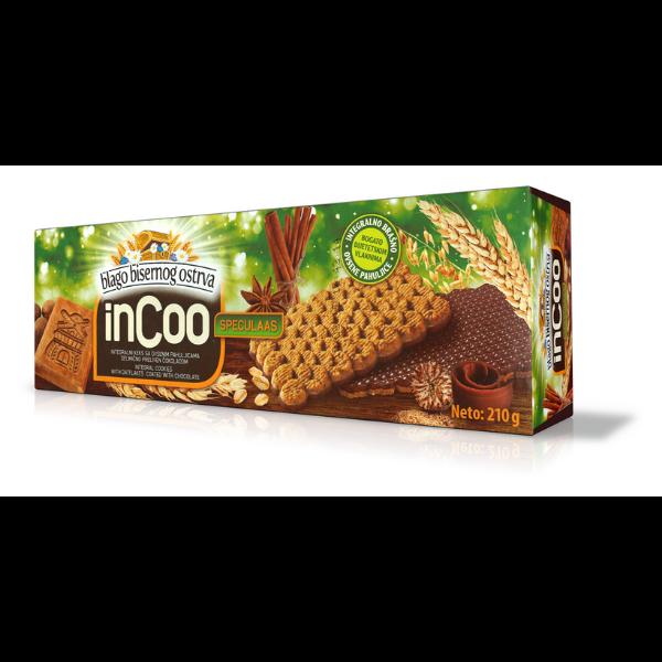 inCoo – Vollkorn-Kekse mit Haferflocken und Schokoladen-Beschichtung – 210g