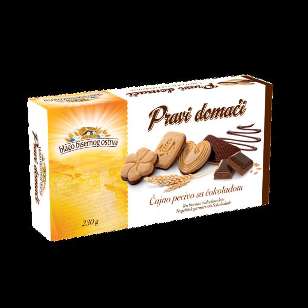 Pravi domaci – Teegebäck garniert mit Schokolade – 230g