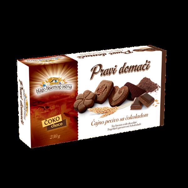 Pravi domaci – Coko – Teegebäck garniert mit Schokolade – 230g