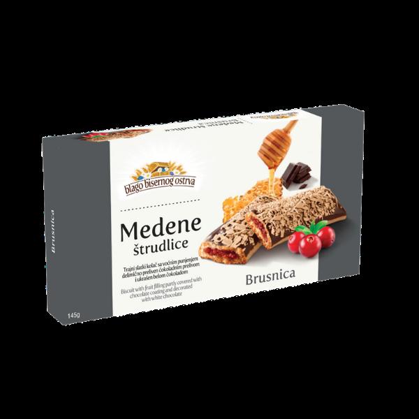 Medene strudlice – Strudel mit Cranberry Füllung und Schokoladen-Überzug – 145g